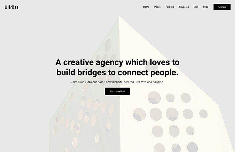Bifrost -Simple Portfolio WordPress Theme