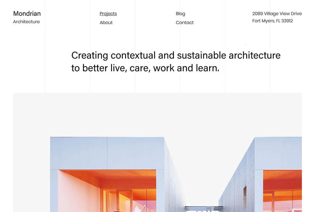 Mondrian - Architecture & Minimalism