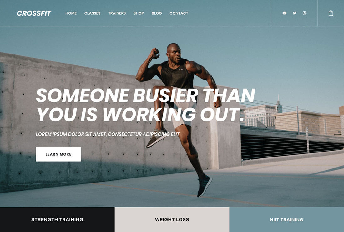 Crossfit - Fitness & Crossfit Demo Site