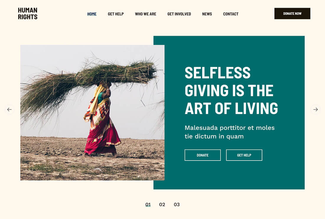 Human Rights - Charity and Donation Demo Site