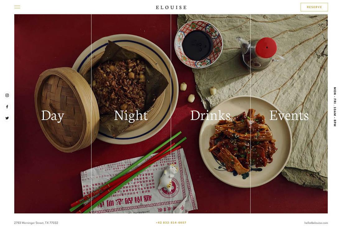 Elouise - Elegant Restaurant Demo