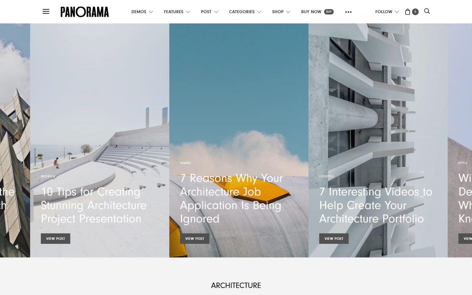 Best Minimal WordPress Themes .