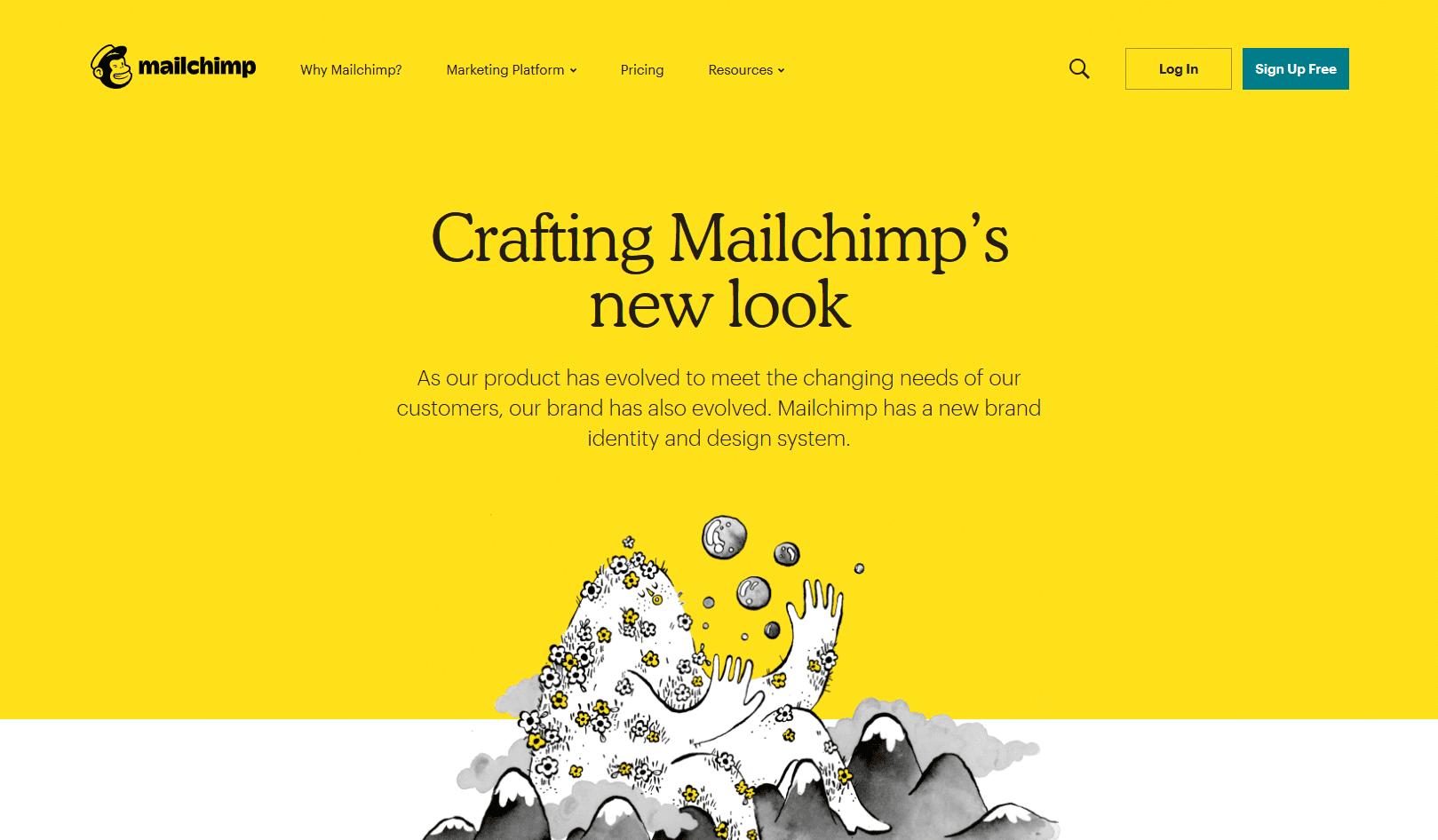 Mailchimp-Design---trending-website-design-for-2020-compressor