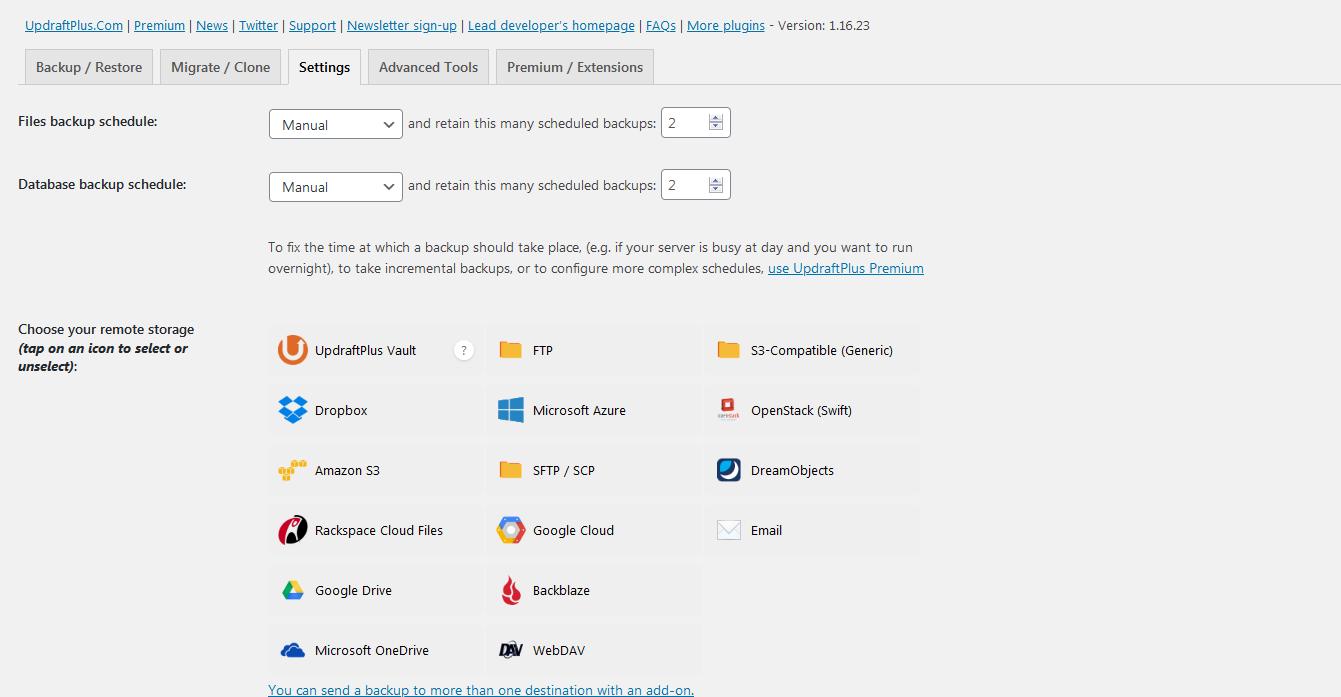 How to Backup & Restore your WordPress Website (UpdraftPlus) 2