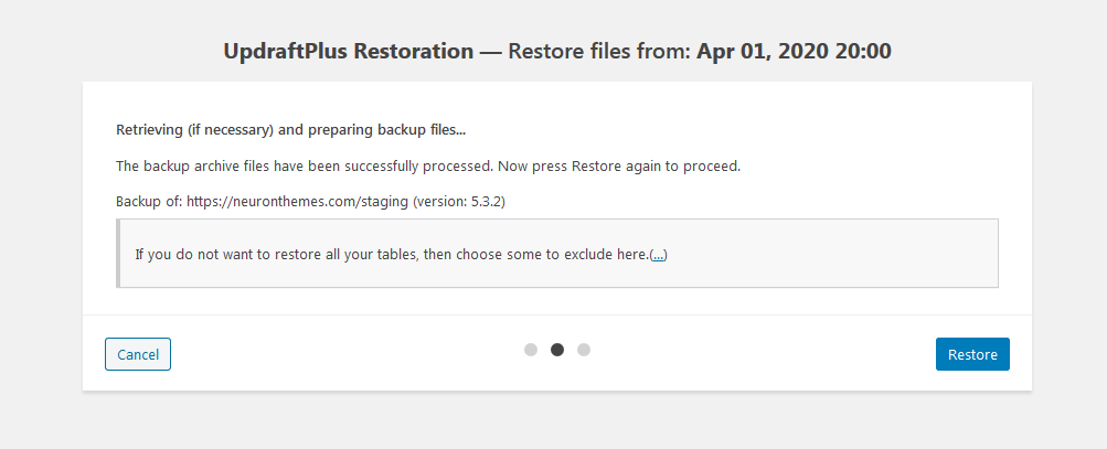 How to Backup & Restore your WordPress Website (UpdraftPlus) 6