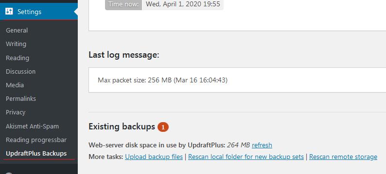 How to Backup & Restore your WordPress Website (UpdraftPlus) 1
