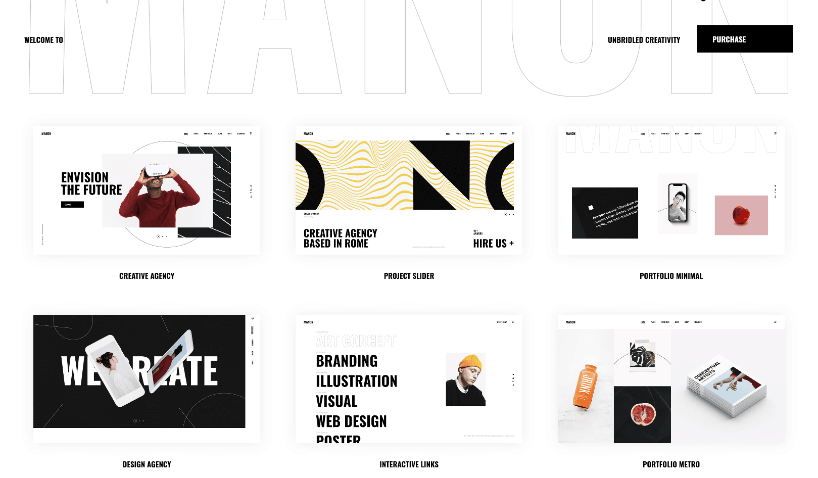 Manon- Minimal WordPress theme display