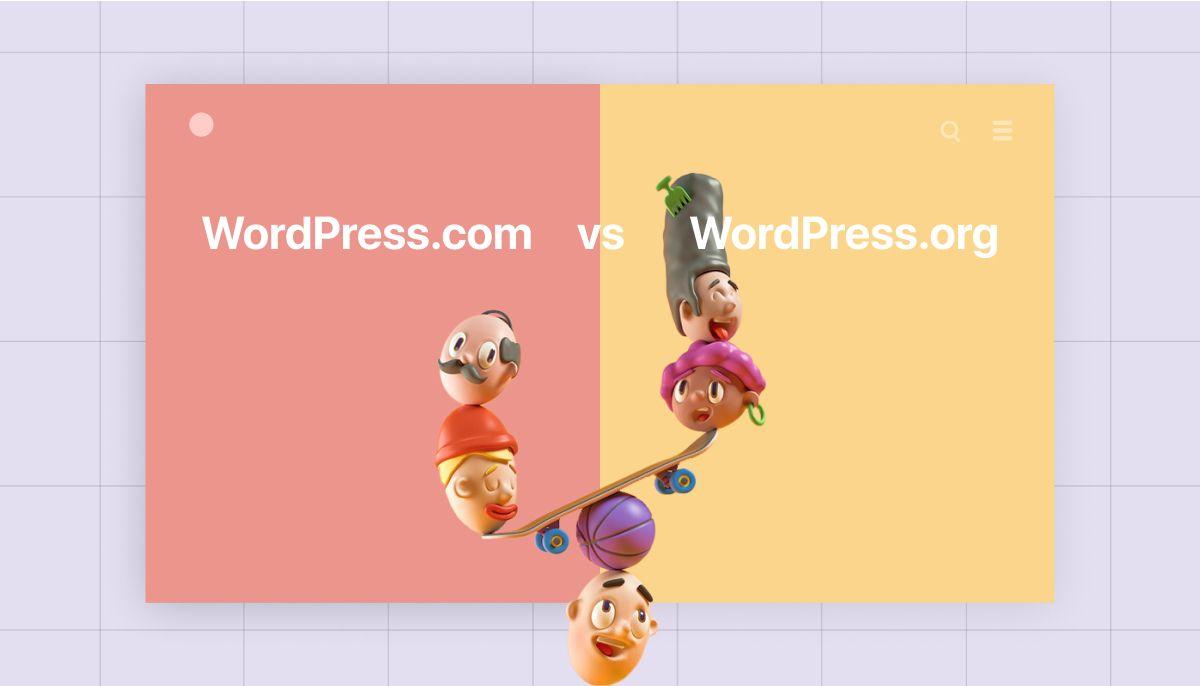 WordPress.or and WordPress.com cmpared