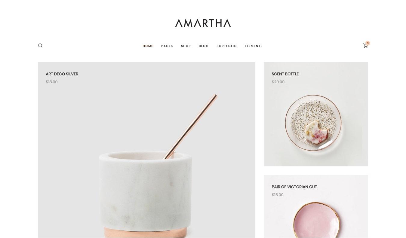 Amartha WooCommerce WordPress theme for online stores