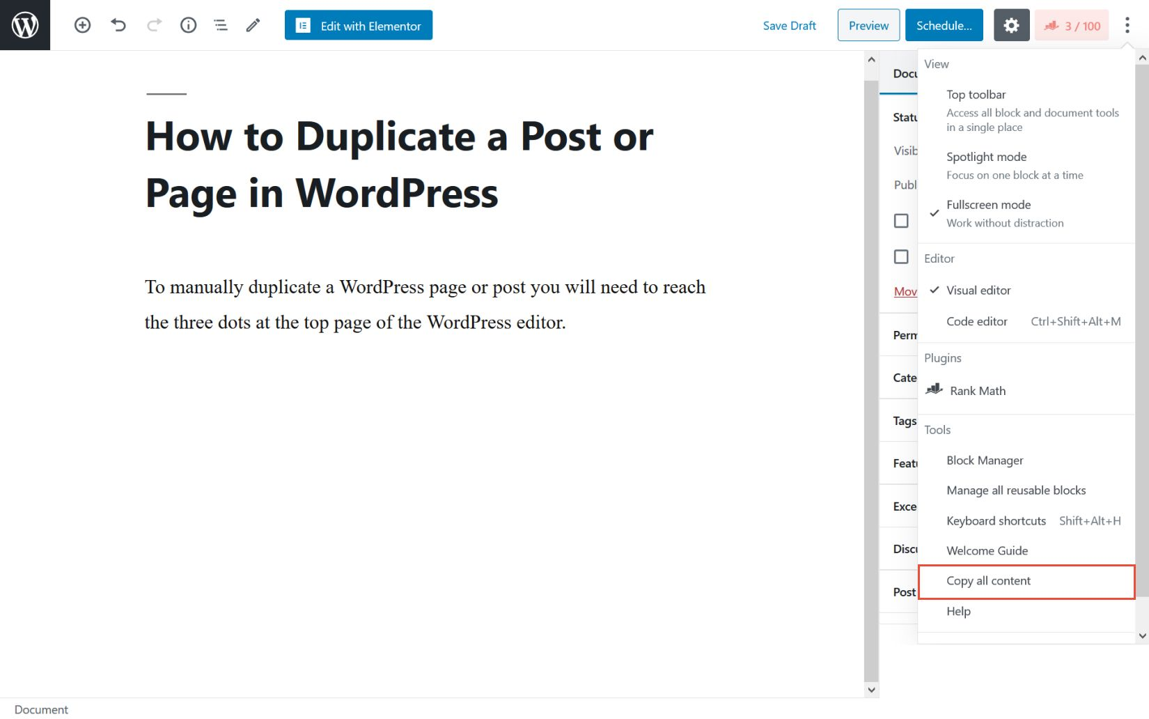 Manually duplicate a page or post in WordPress