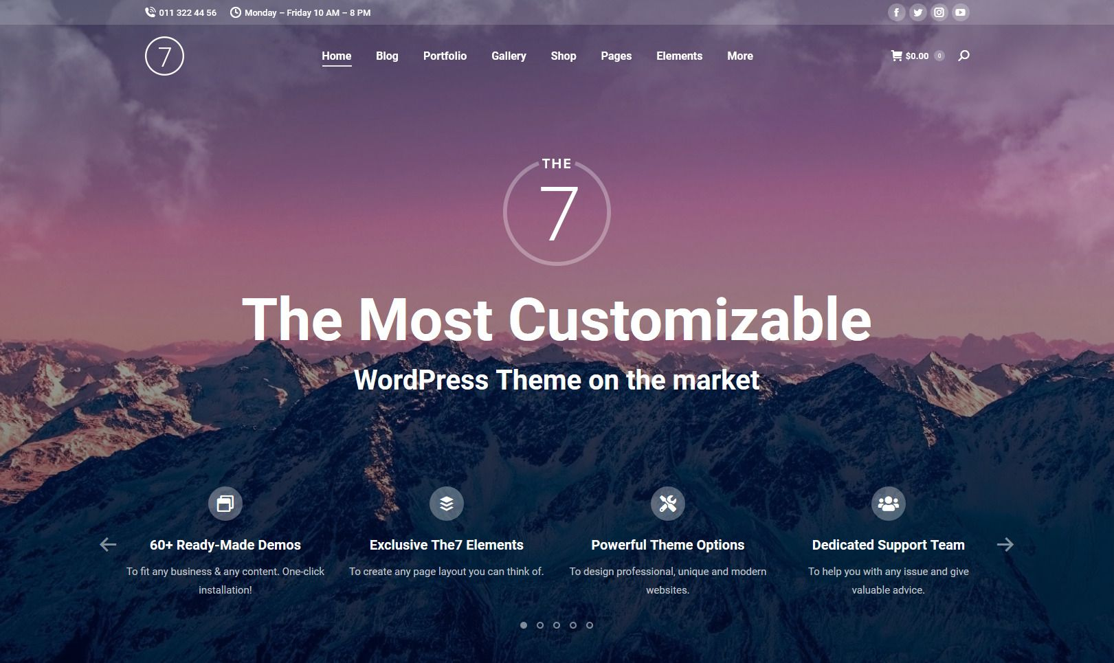 the 7 theme multi-purpose wordpress theme