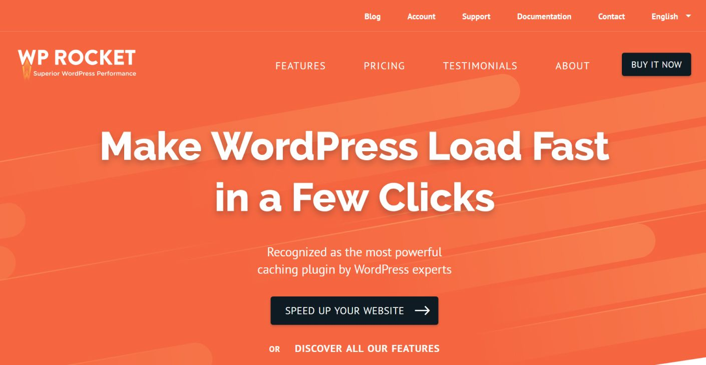 WP Rocket Plugin for caching your website