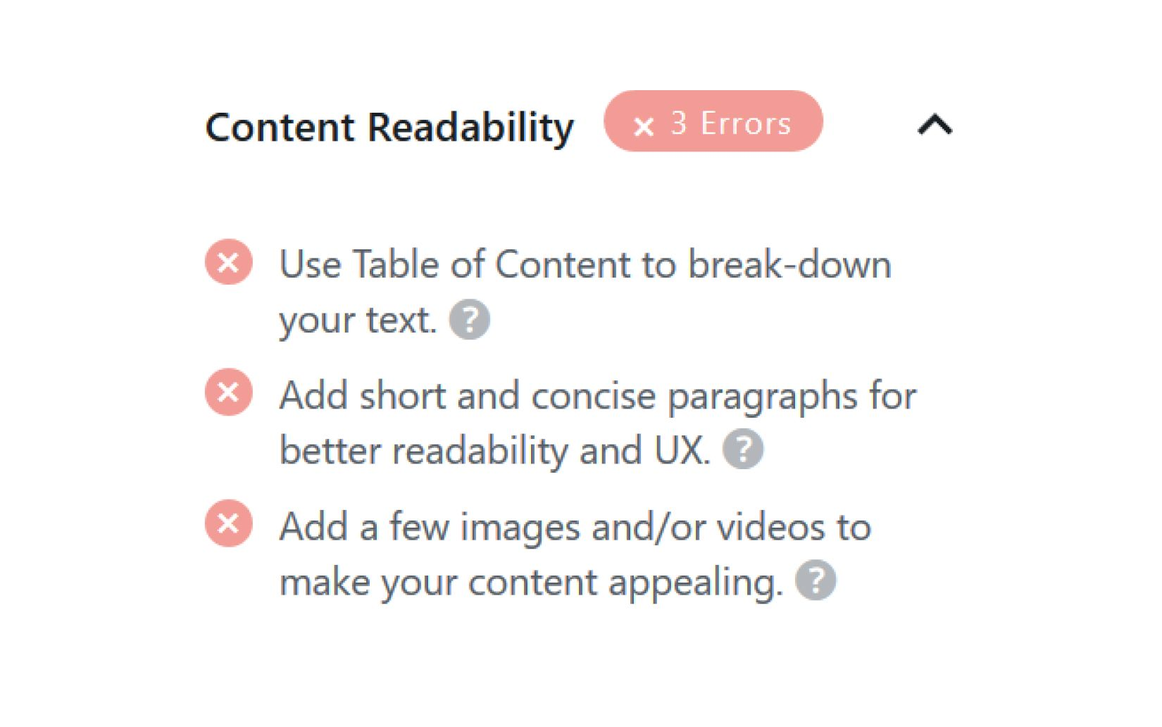 RankMath General Tab Content Readability
