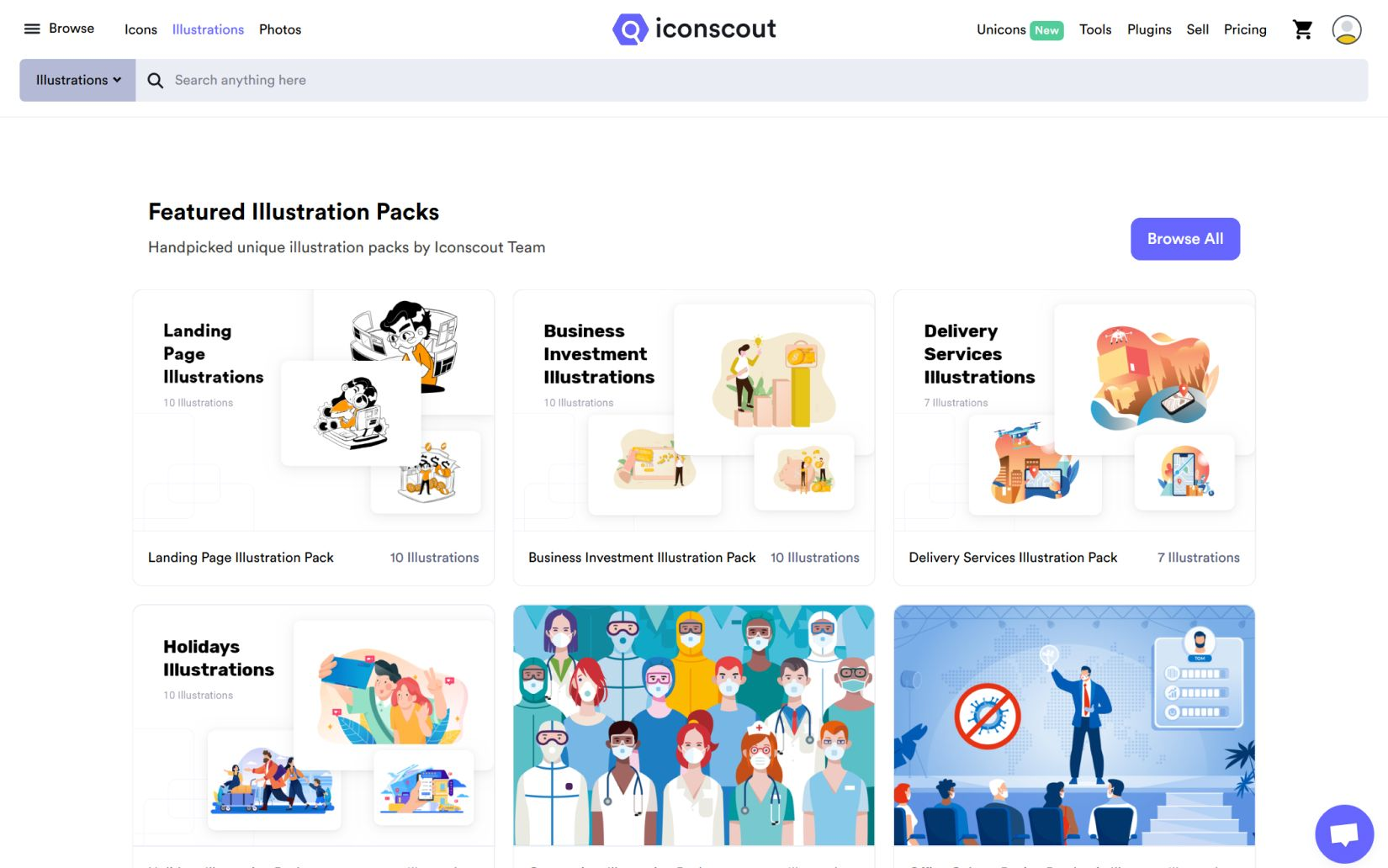 iconscout as a source for downloading illustrations