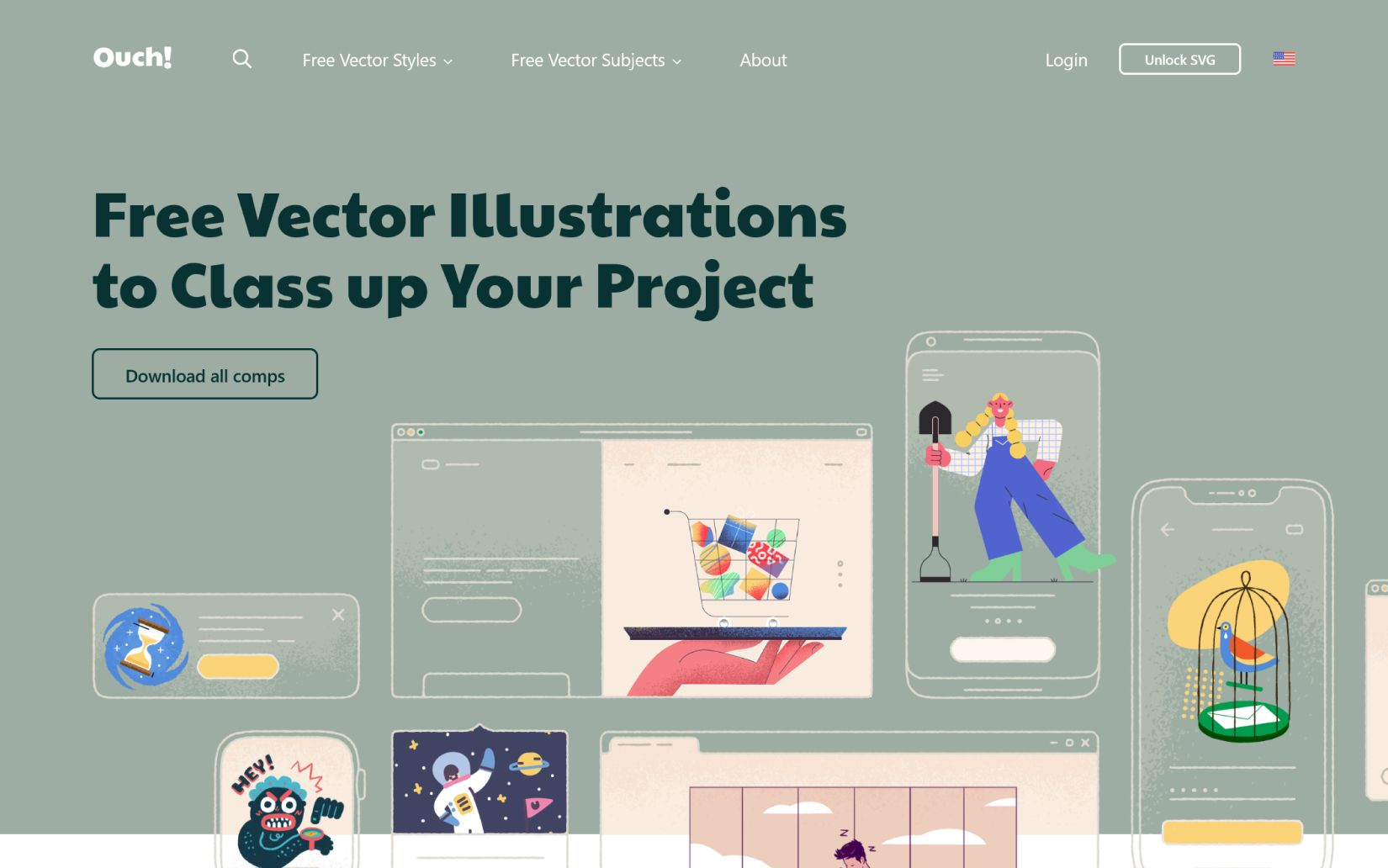 resource for downloading beautiful illustrations