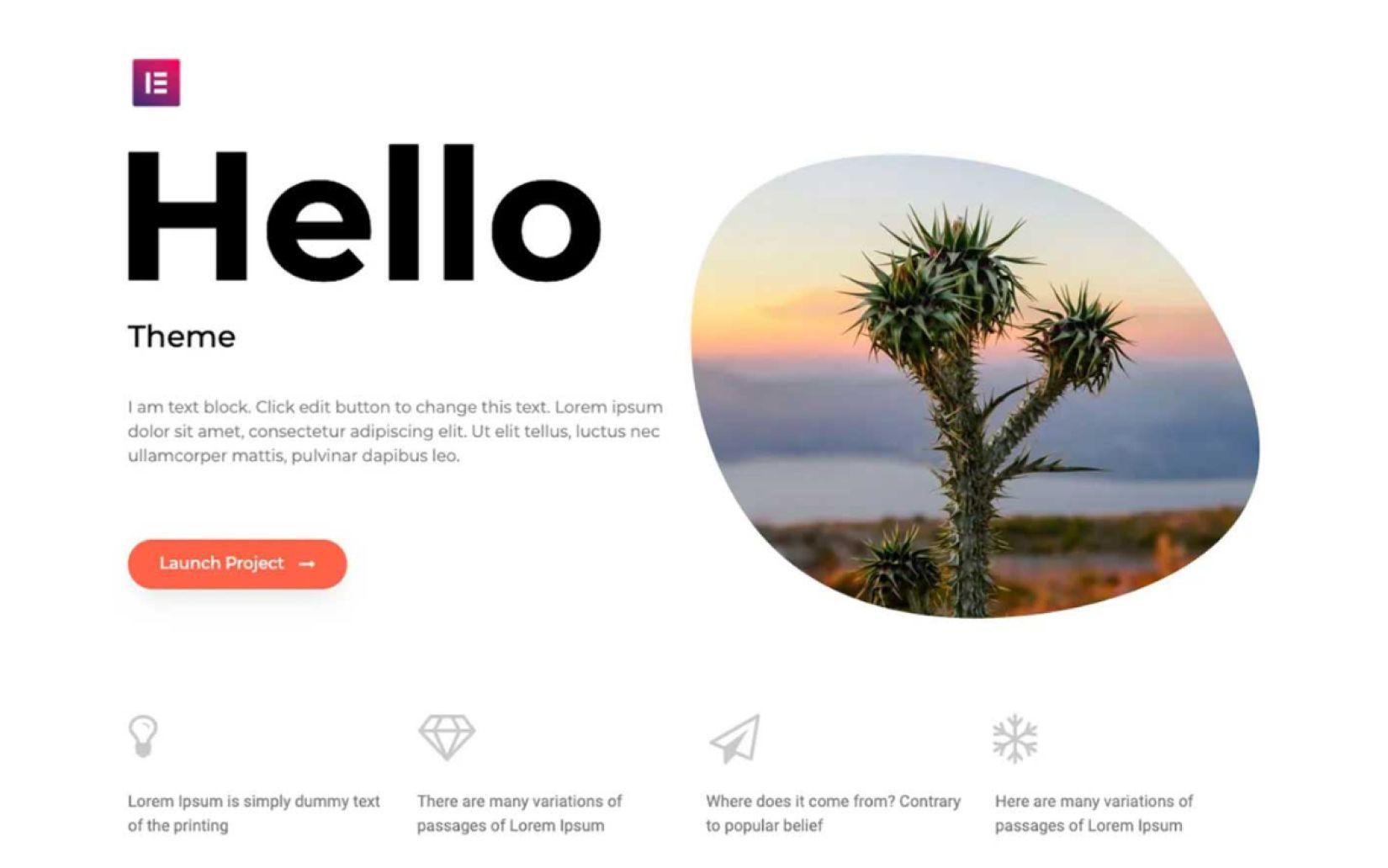Best Free themes fort WordPress Hello Theme