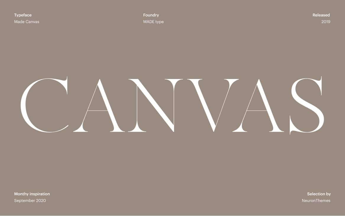 Made Canvas Free Display Fonts for Large text and headings