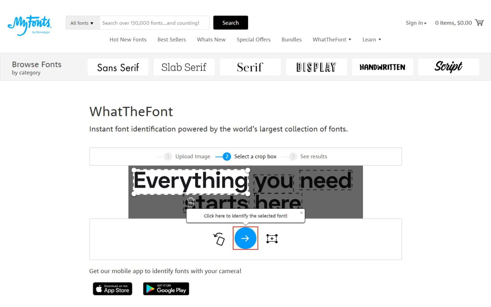 How to find a font with WhatTheFont