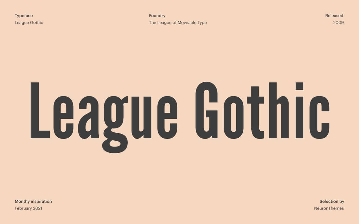 League Gothic Font on Adobe Fonts to download for free