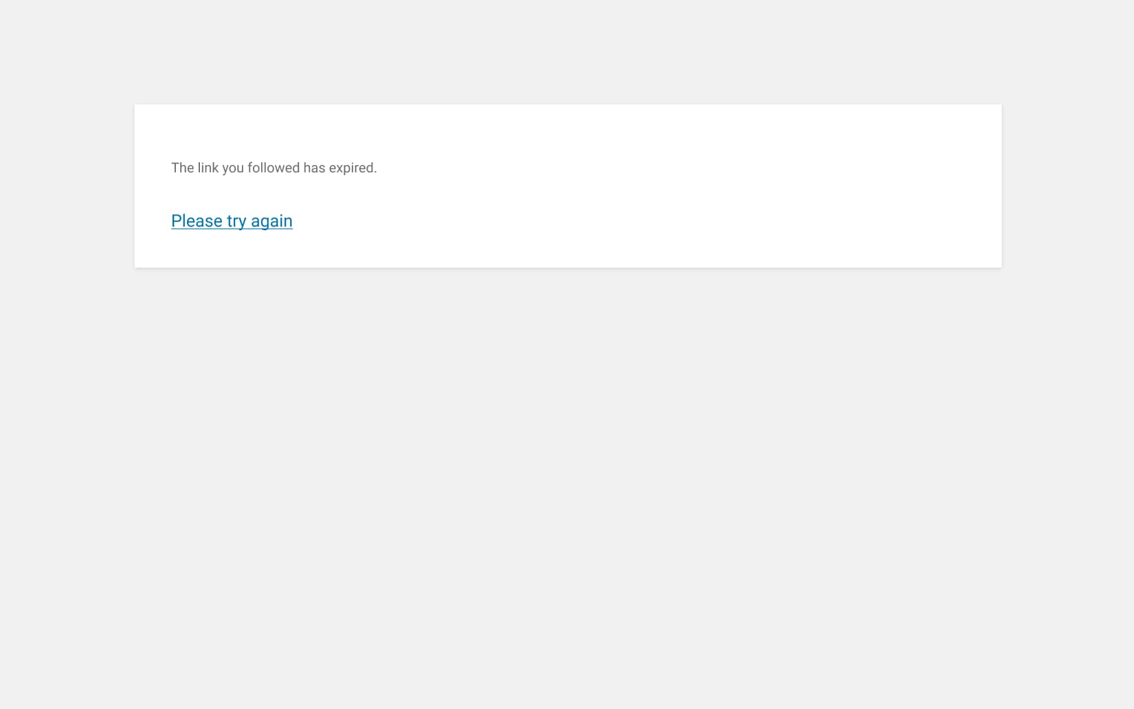 How to fix the link your followed has expired error in WordPress