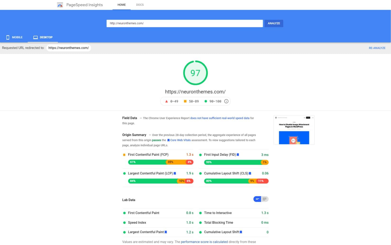 Tools to measure Google Core Web Vitals