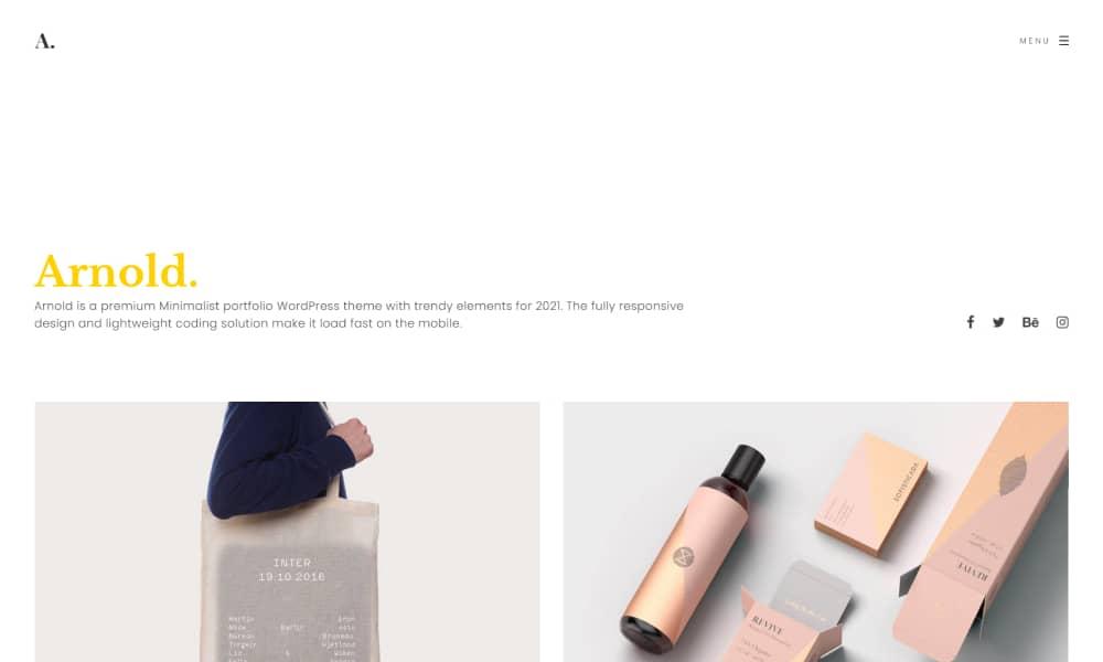 Arnold - Minimal WordPress Theme Portfolio