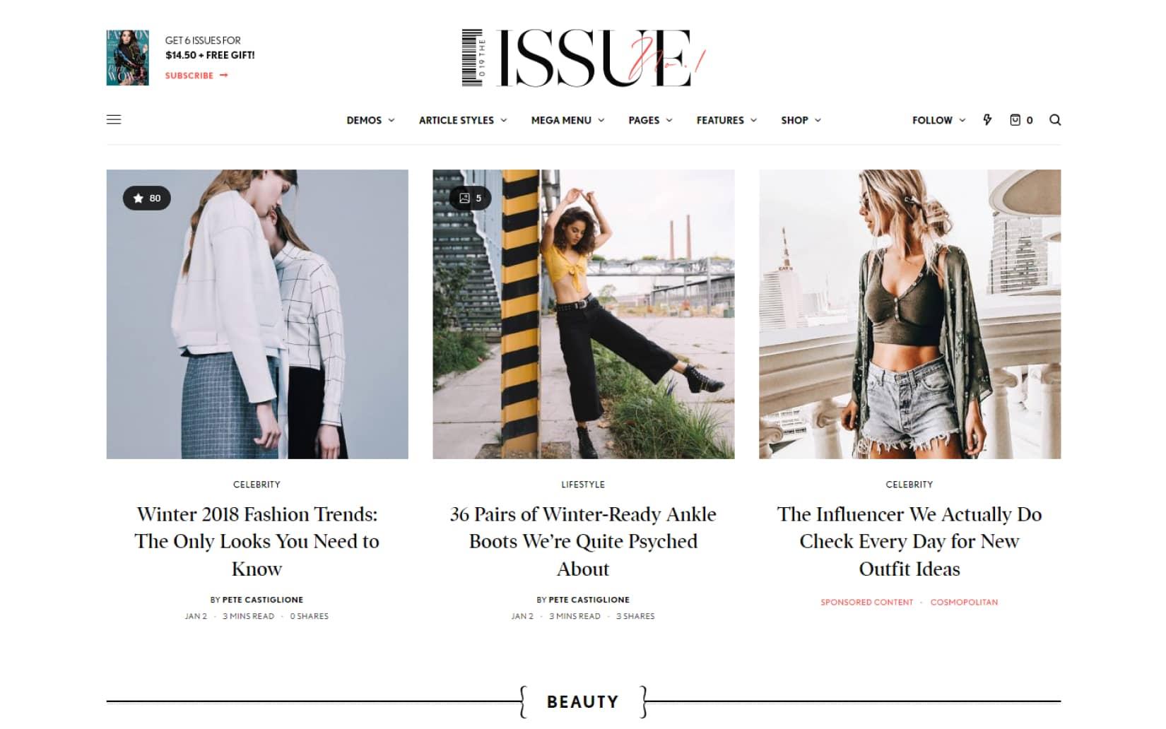 The Issue Versatile Magazine WordPress Theme