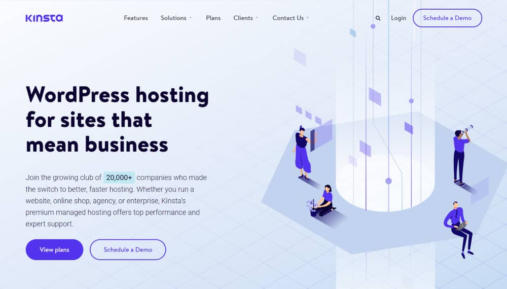 Kinsta WordPress Hosting with built in caching system 1