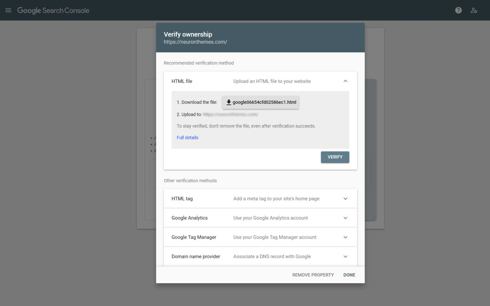 post how to add search console 4
