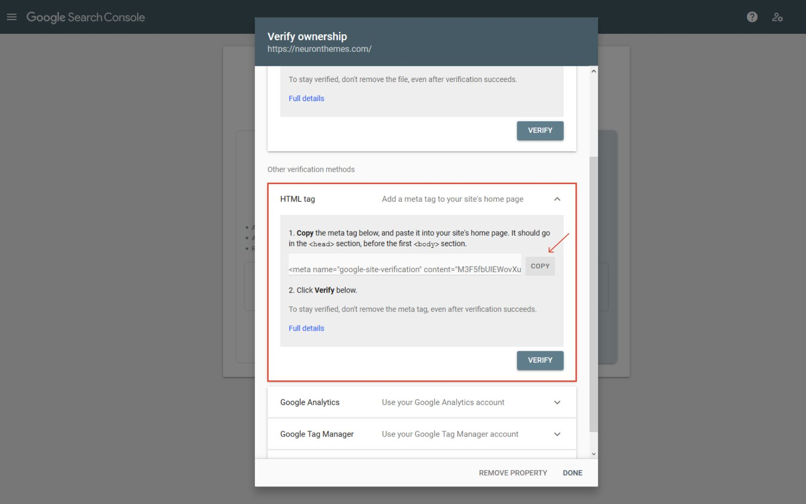 post how to add search console 5