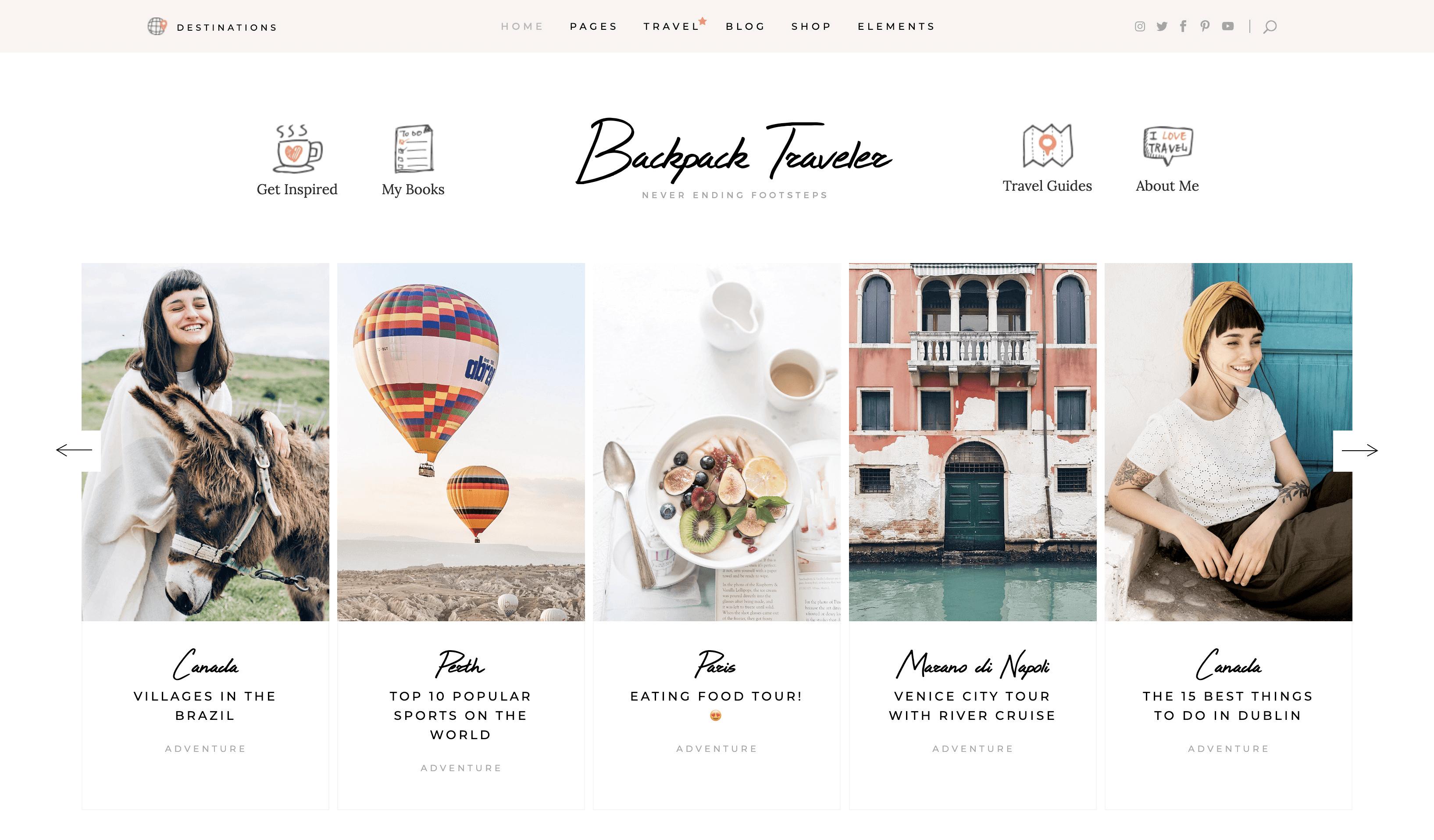 Backpack Traveler The Modern Blog WordPress Theme