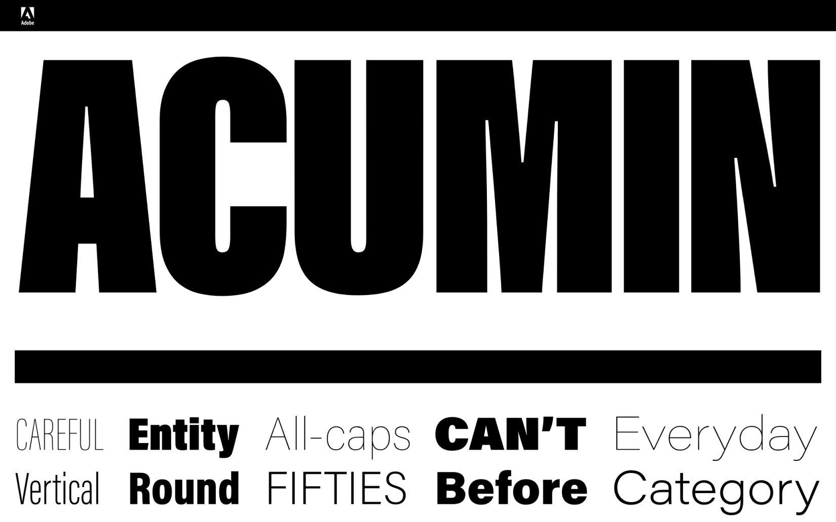 Best Free Sans Serif Fonts Acumin