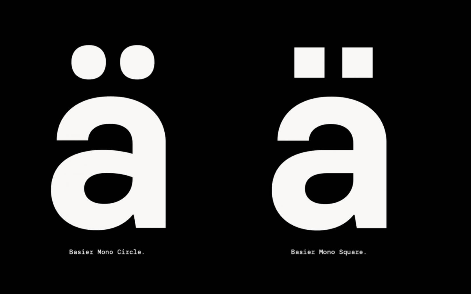 Best Free Sans Serif Fonts Basier Mono