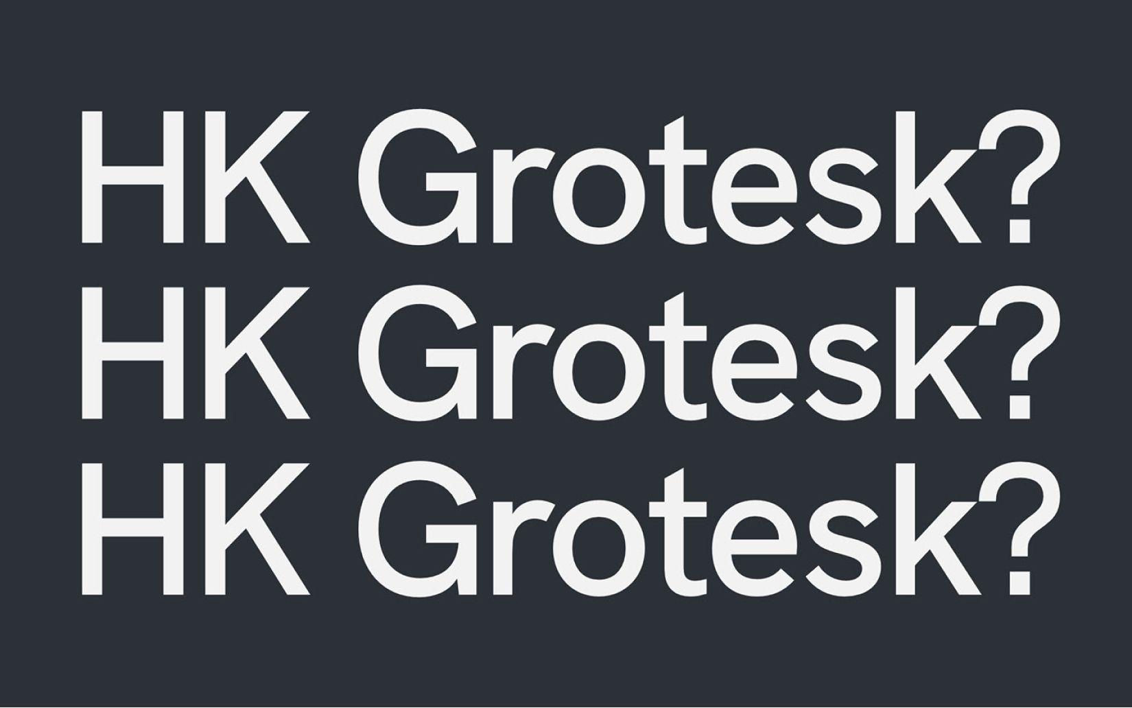 Best Free Sans Serif Fonts HK Grotesk