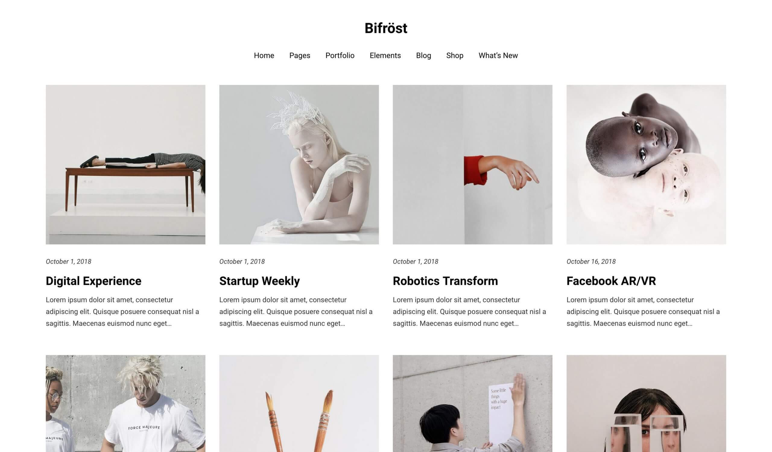 Bifrost Minimal and Elegant WordPress Theme