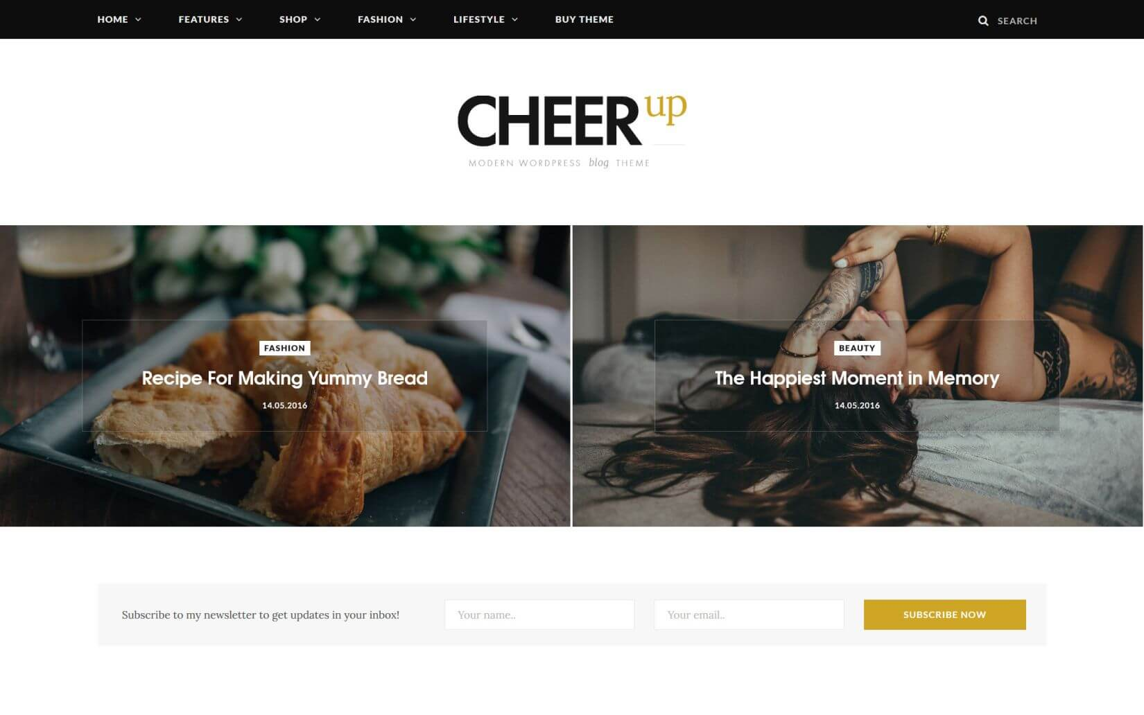 Cheer Up The Elegant WordPress Theme