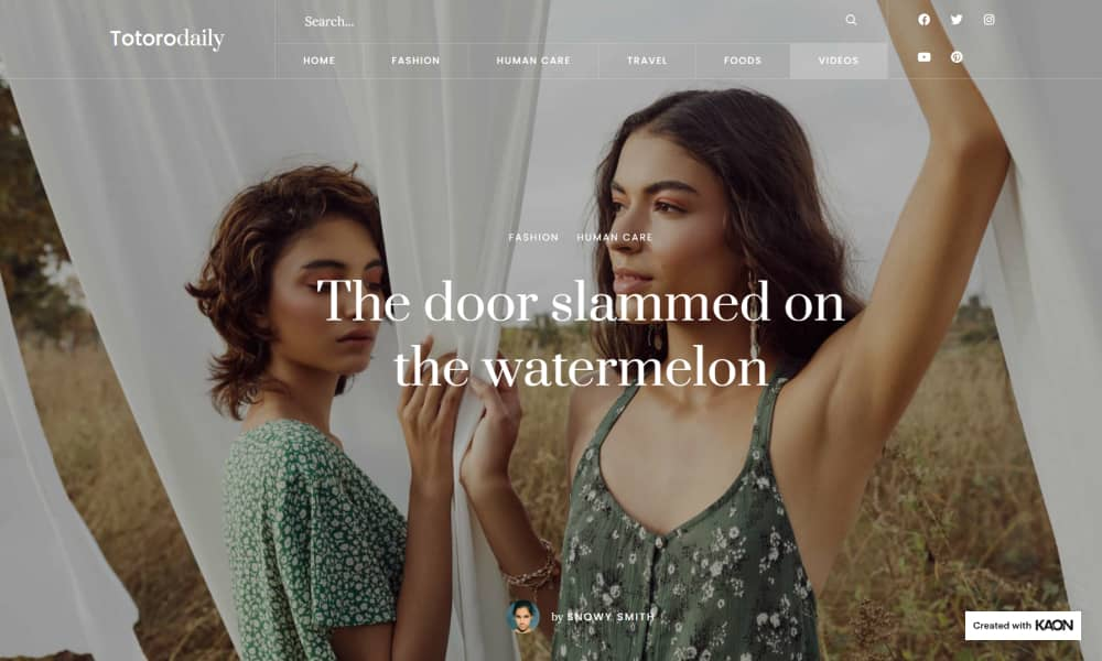 Kaon - Best Blog and Magazine WordPress themes