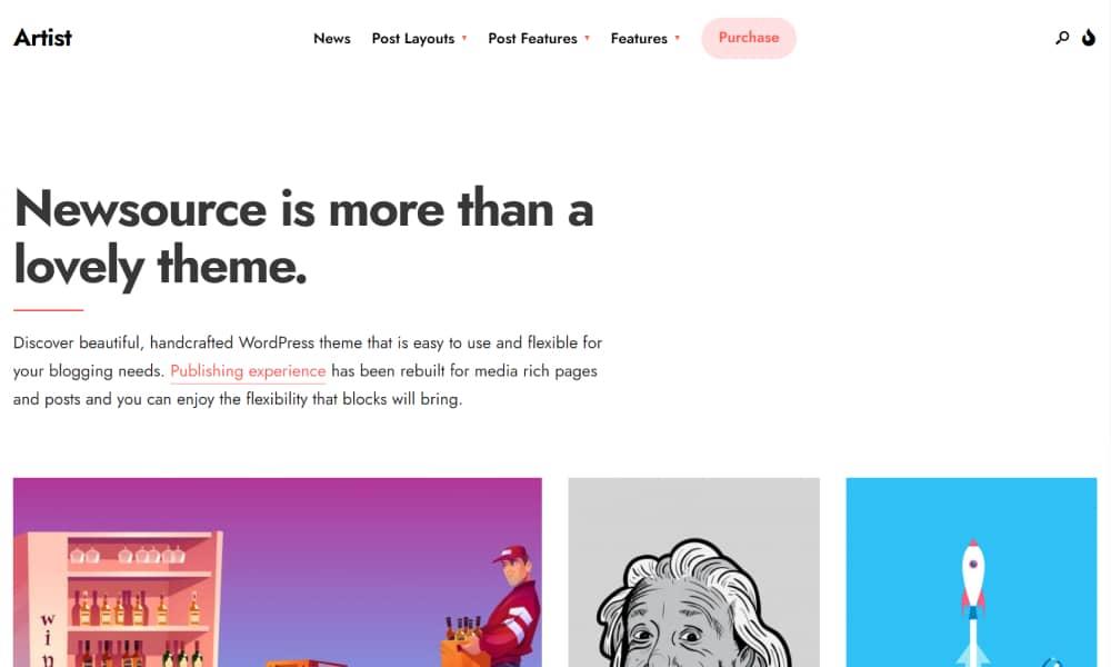 Newsource - Best WordPress theme for blog and magazine websites