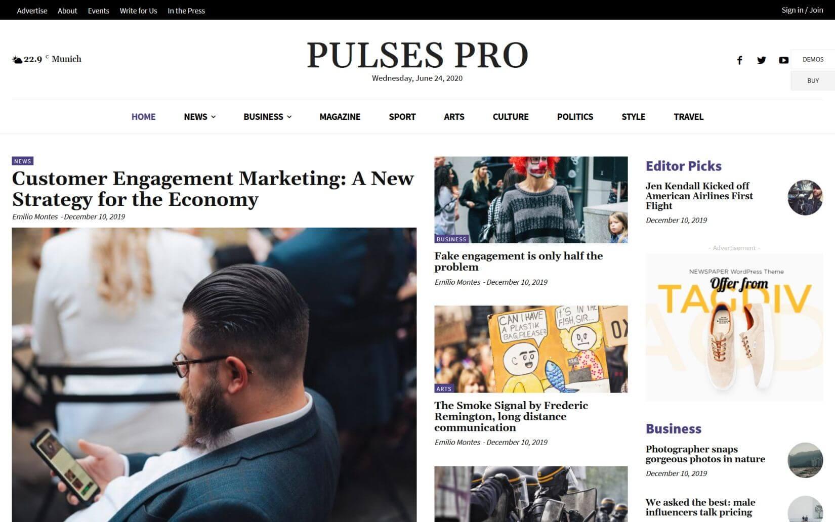 Newspaper The Popular News WordPress Theme