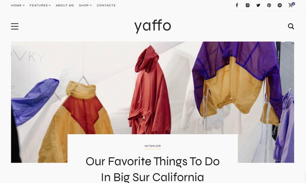 Yaffo Best Blog and Magazine WordPress themes 1