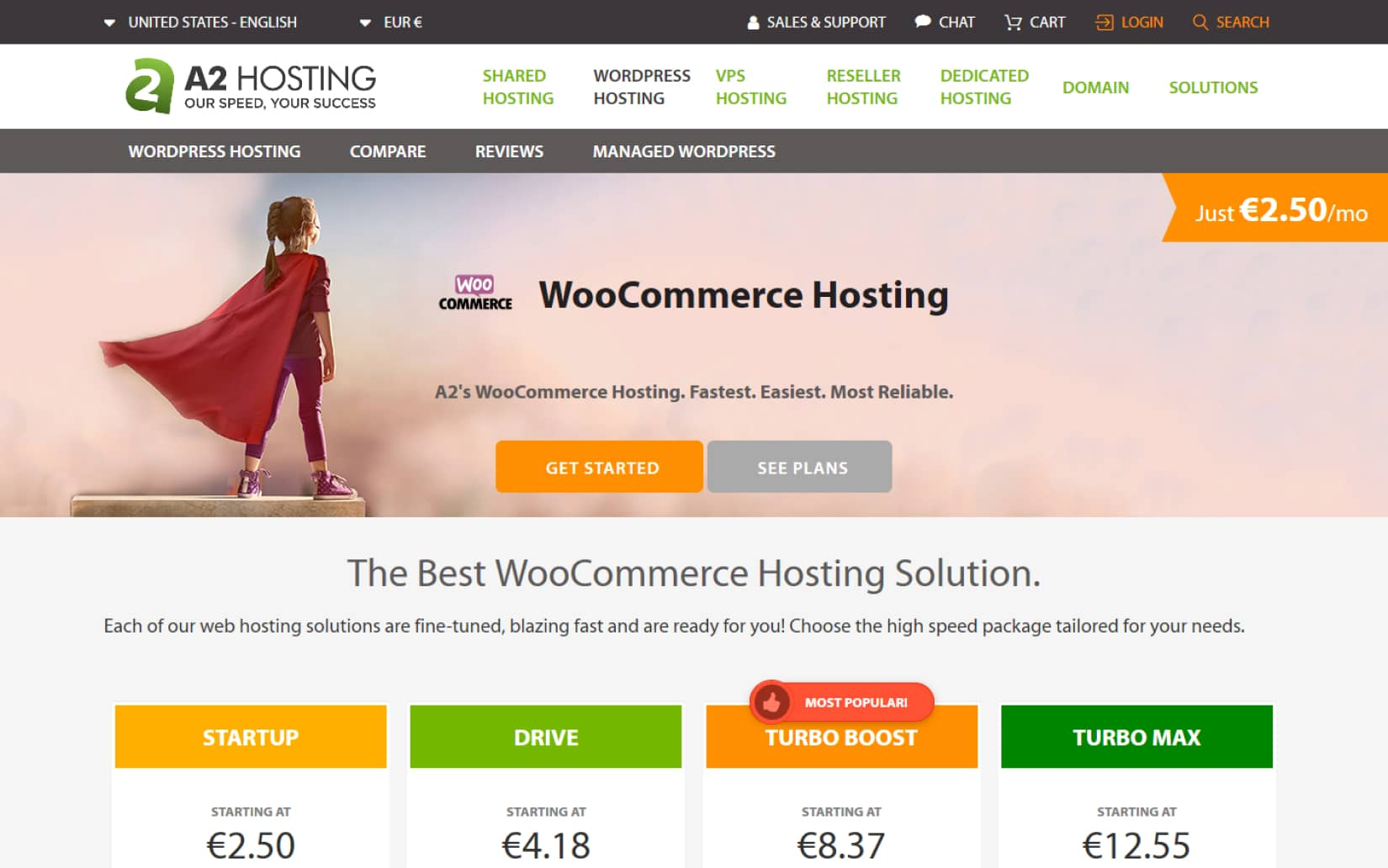 10 Best WooCommerce Hosting Compared 2020 A2 Hosting