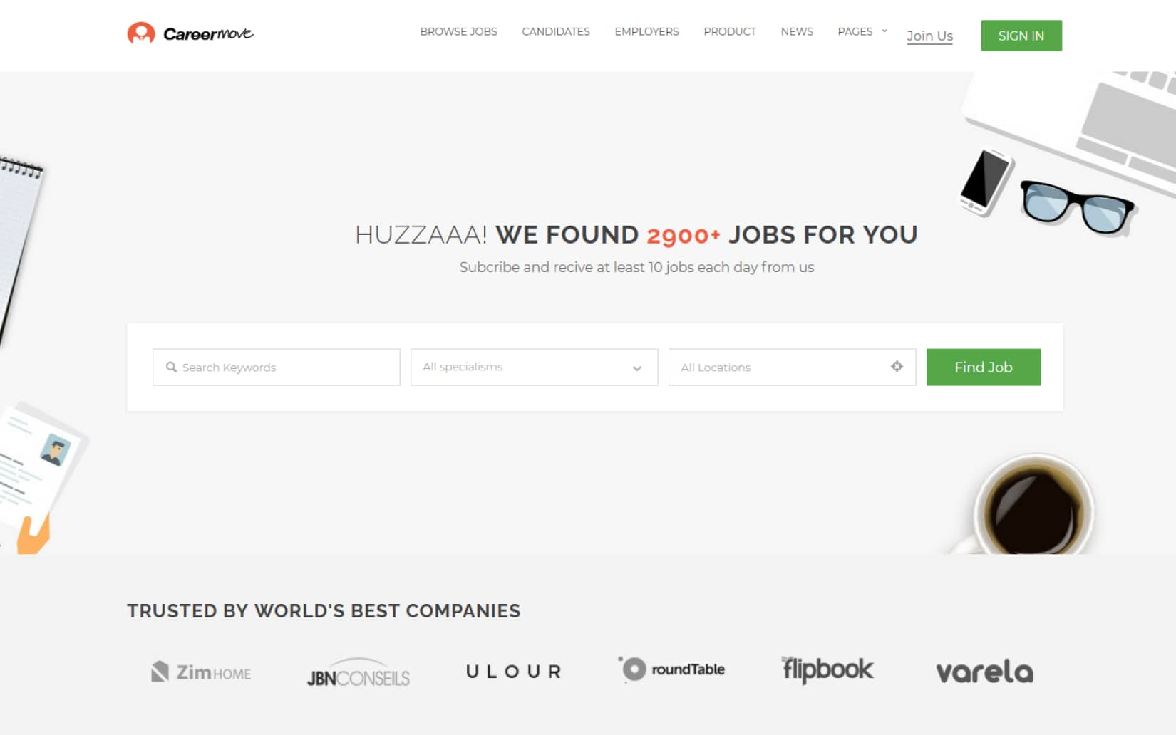 20 Best Directory Listing WordPress Themes JobCareer Job Board Responsive WordPress Theme