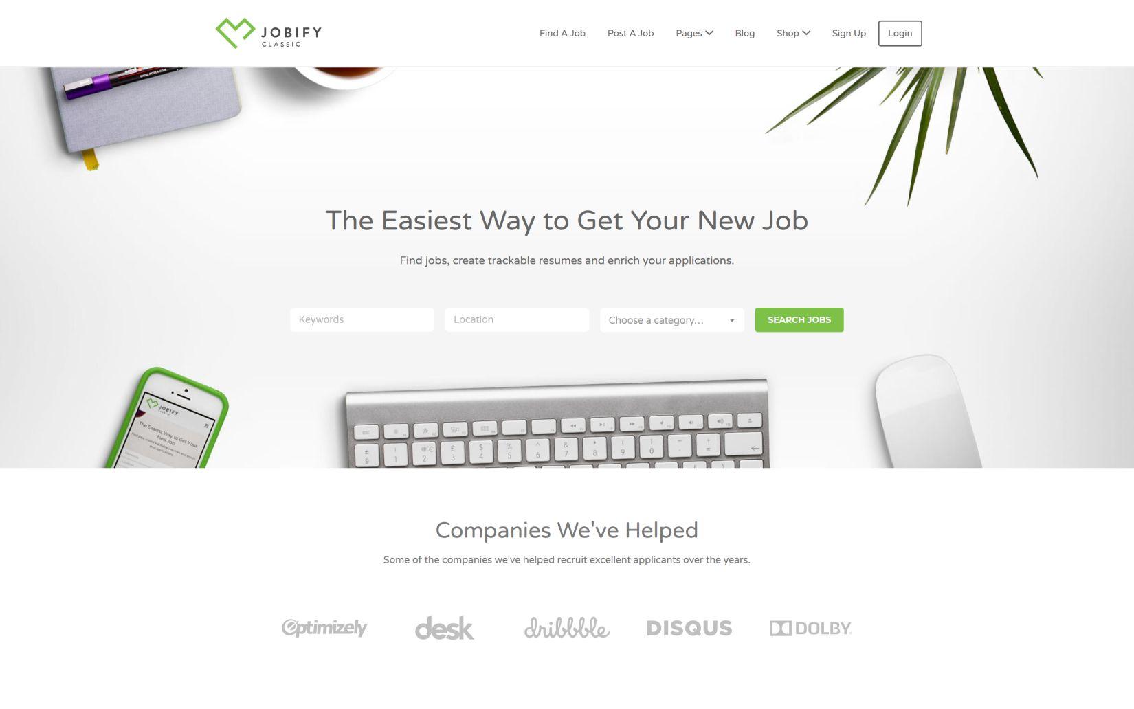20 Best Directory Listing WordPress Themes Jobify Job Board WordPress Theme