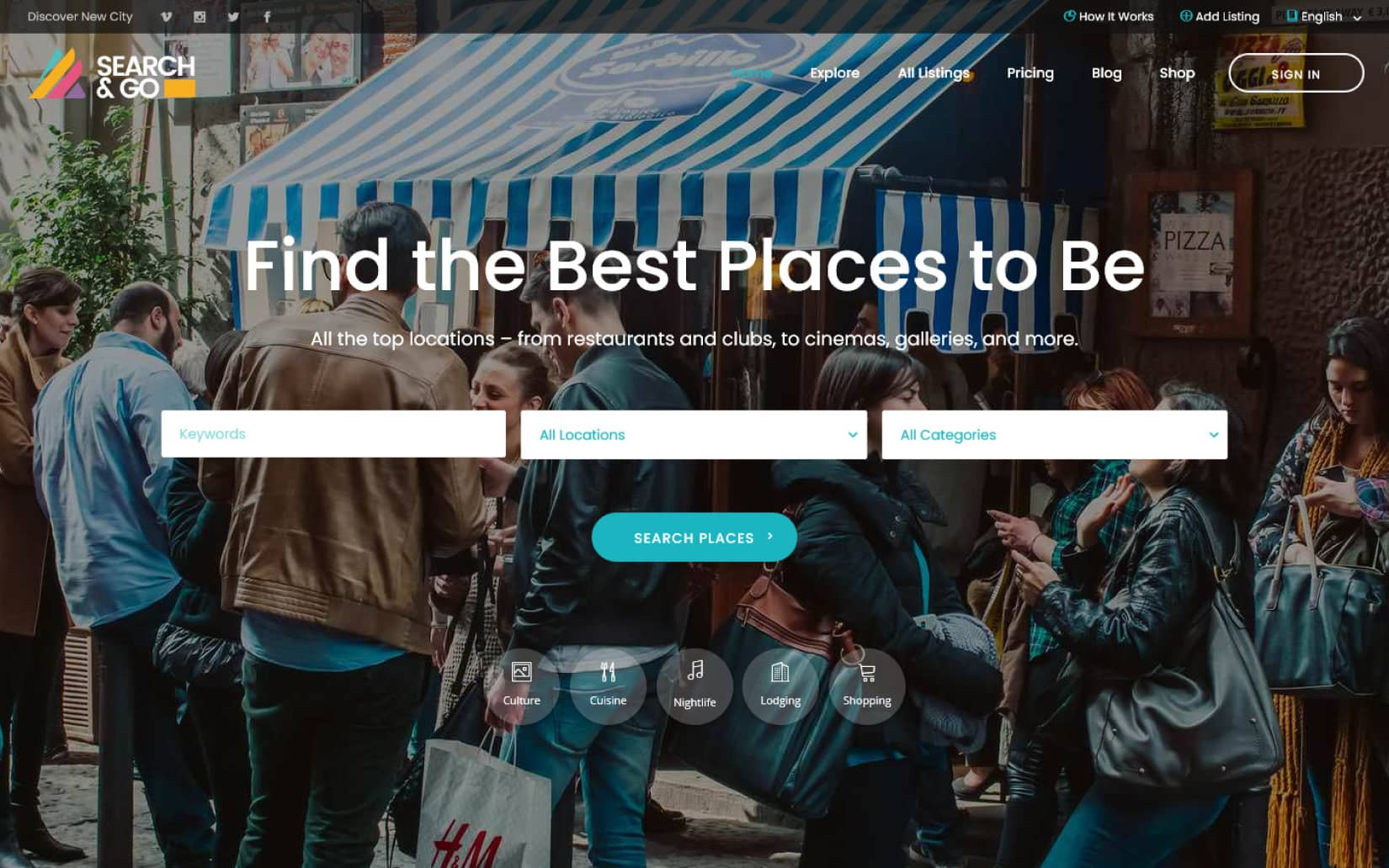 20 Best Directory Listing WordPress Themes Search Go Directory WordPress Theme