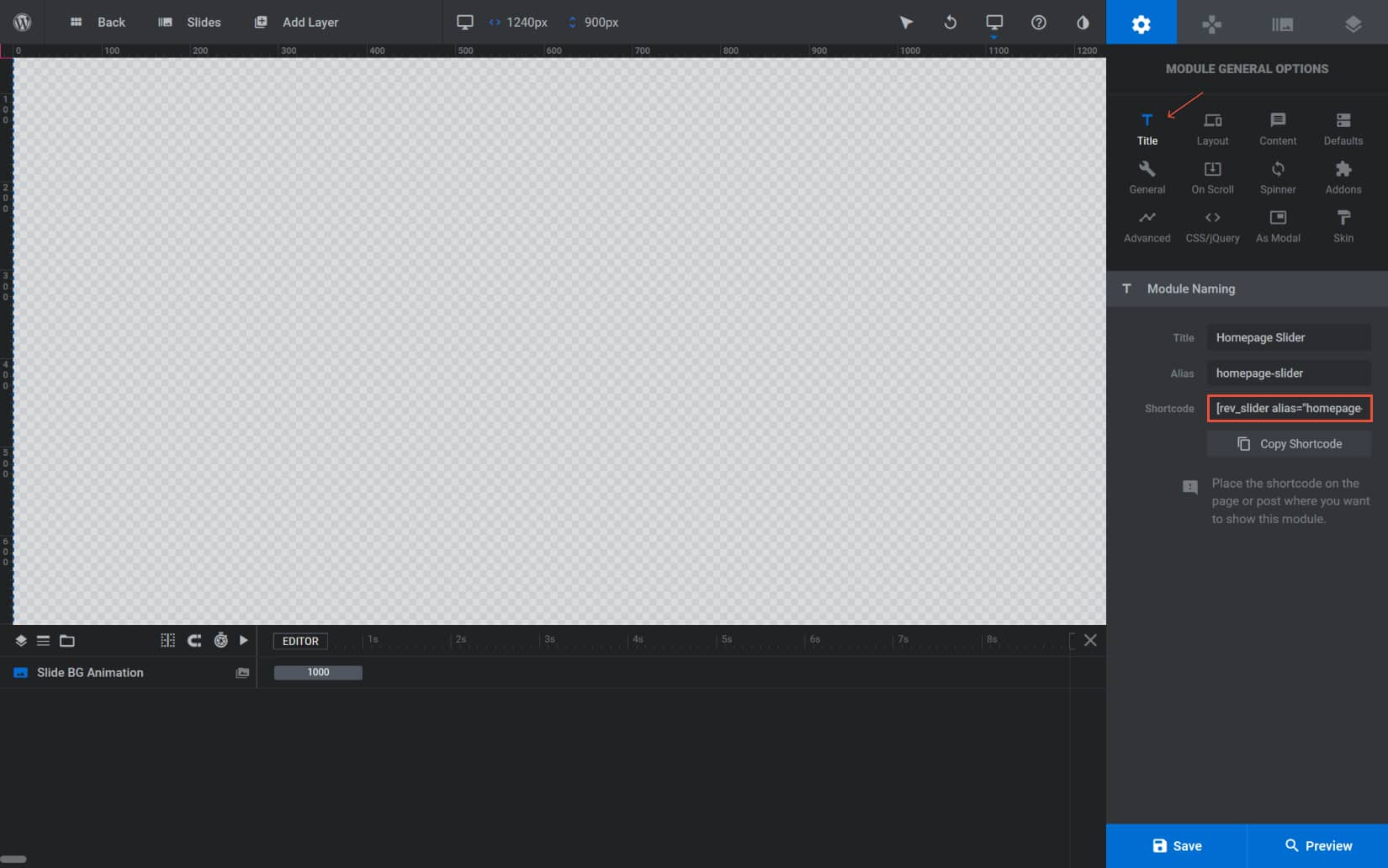 Display Sliders in a Website page using the shortcode in Slider Revolution