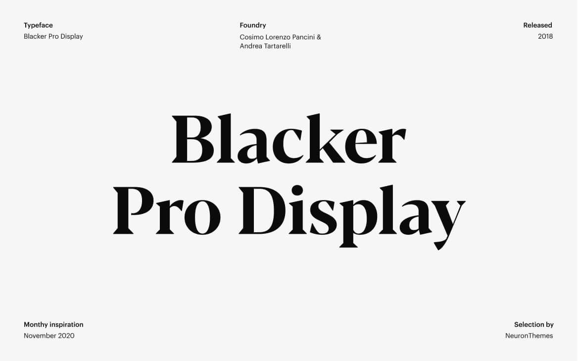 Best Free Display Fonts Blacker Pro