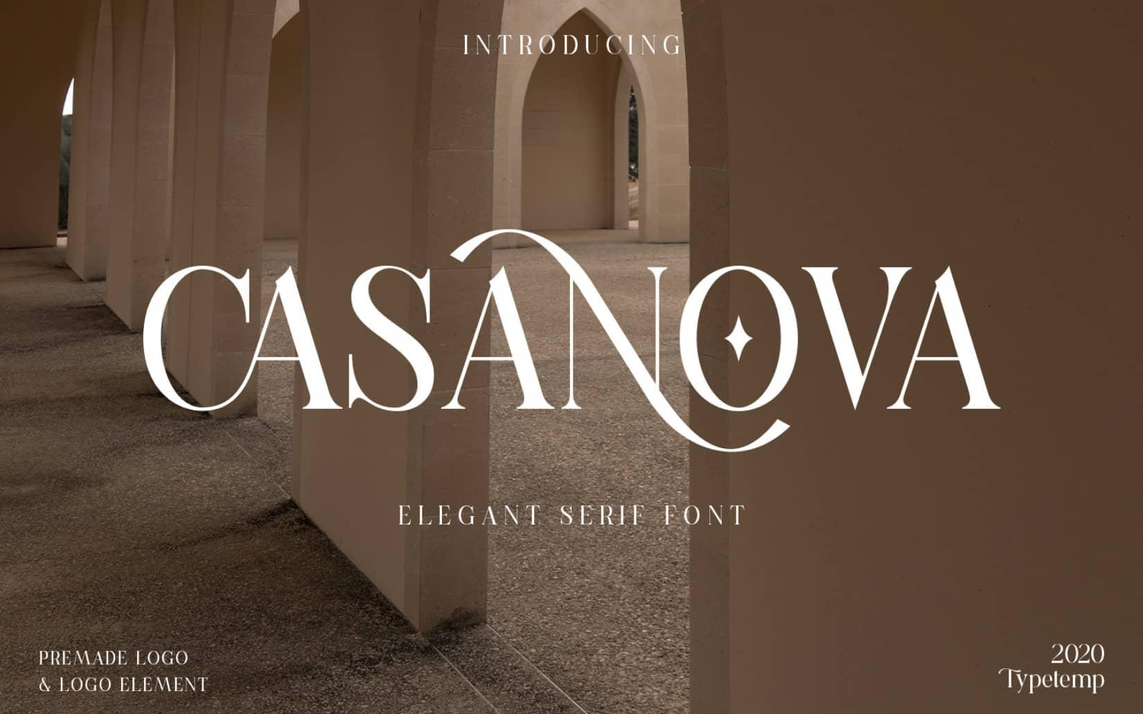 Best Free Display Fonts Casanova Serif Display