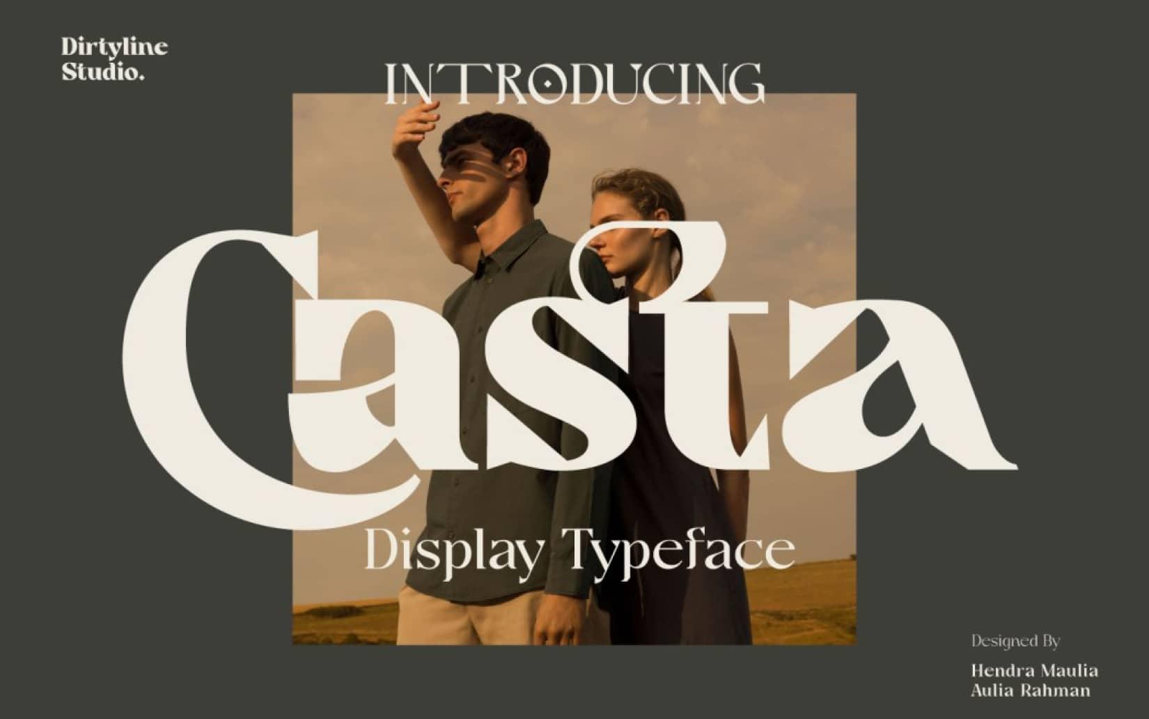 Best Free Display Fonts Casta