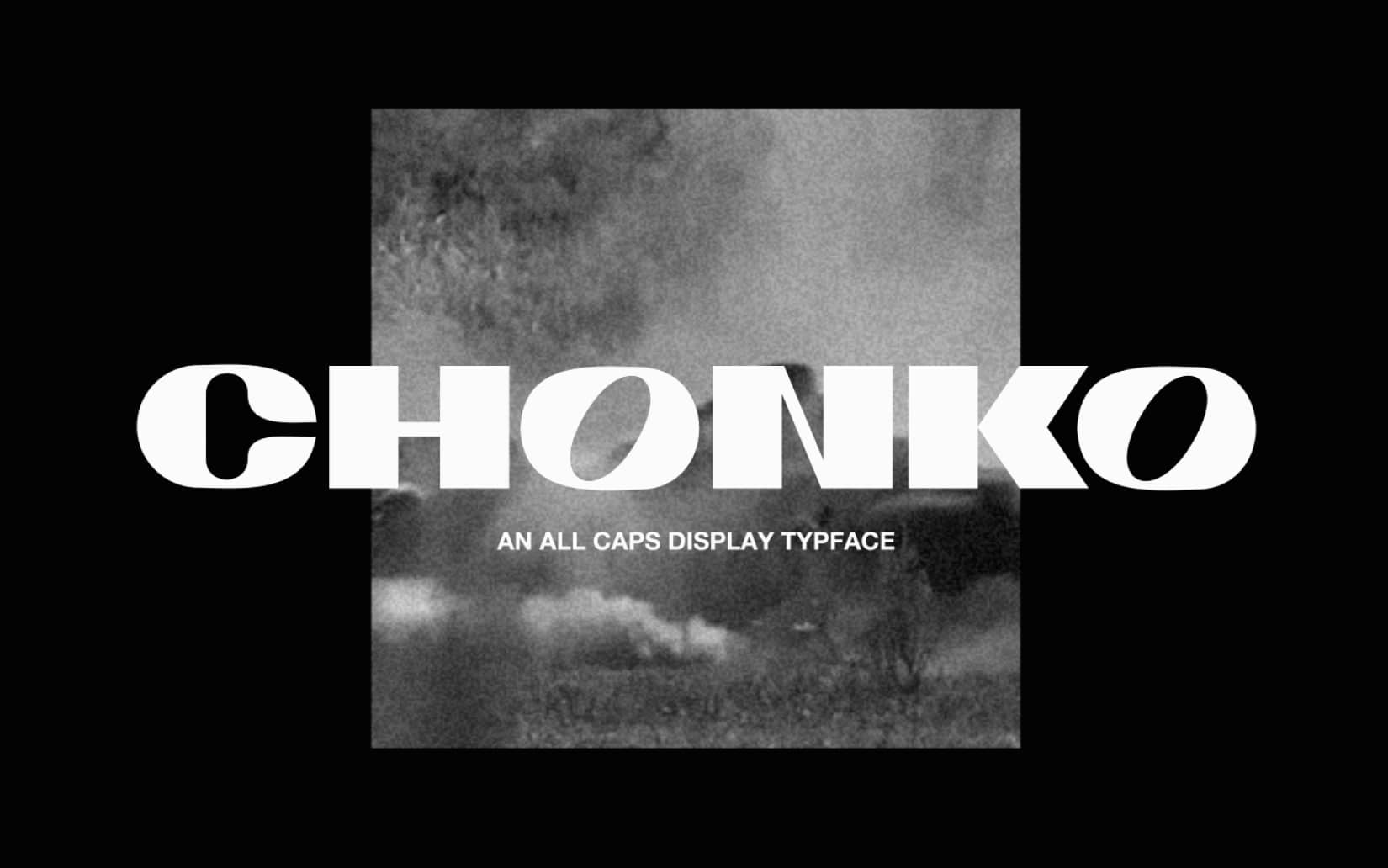 Best Free Display Fonts Chonko Display
