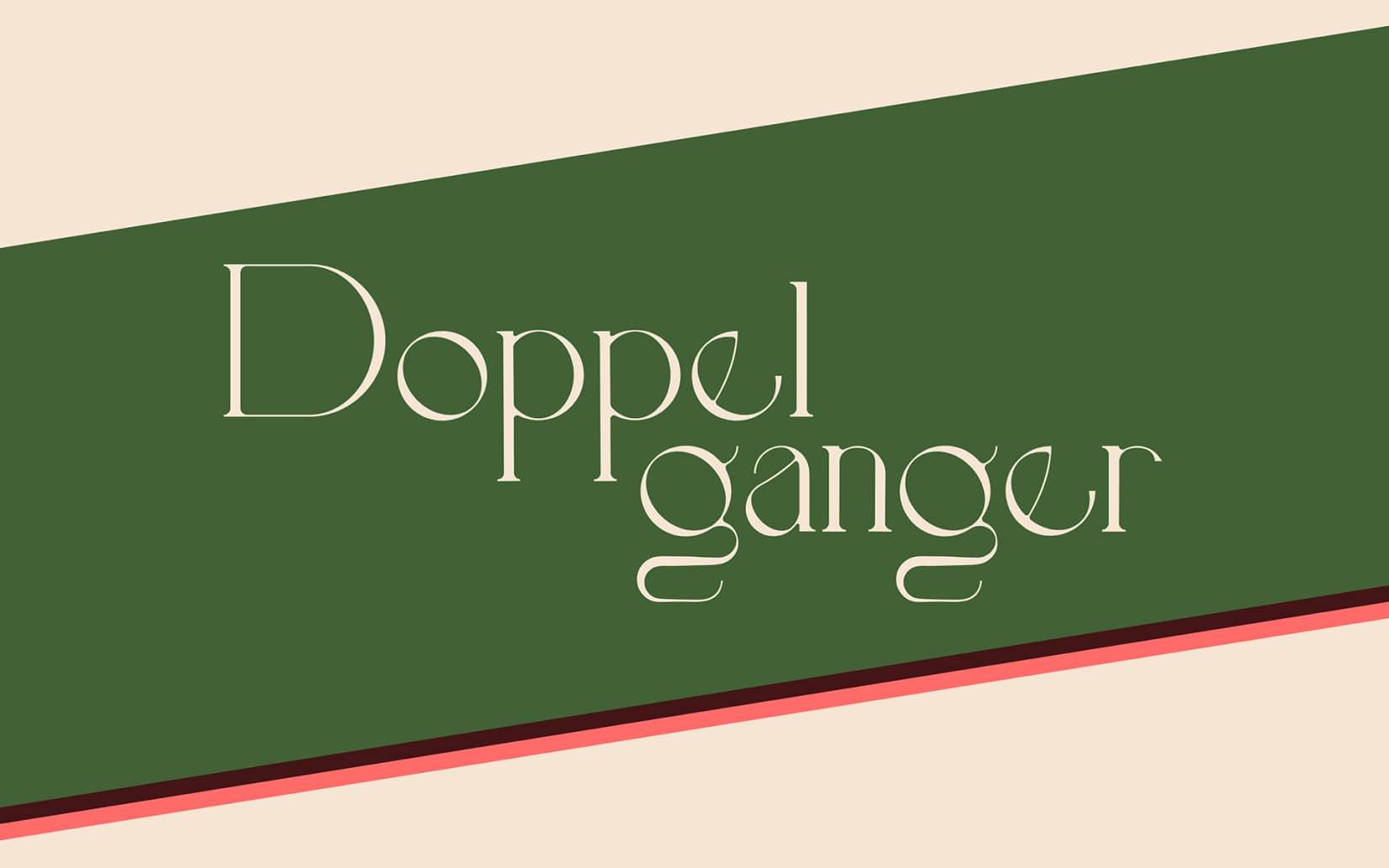 Best Free Display Fonts Doppelganger